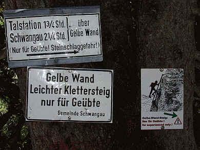 Klettersteig Gelbe Wand : Klettersteig gelbe wand bei füssen foto bild landschaft wege