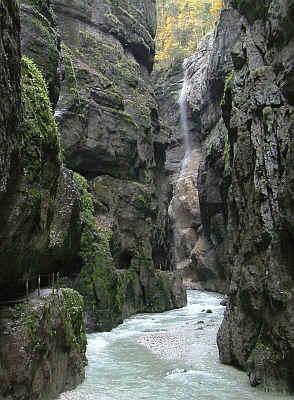 Die Partnachklamm bei Garmisch Partenkirchen im